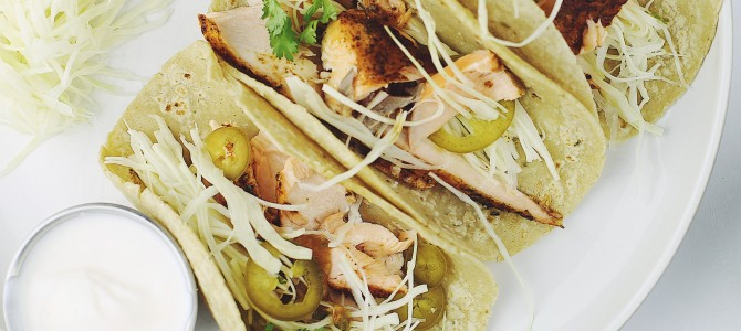 Grilled Salmon Tacos With Smoky Tomato Salsa Thechefdan