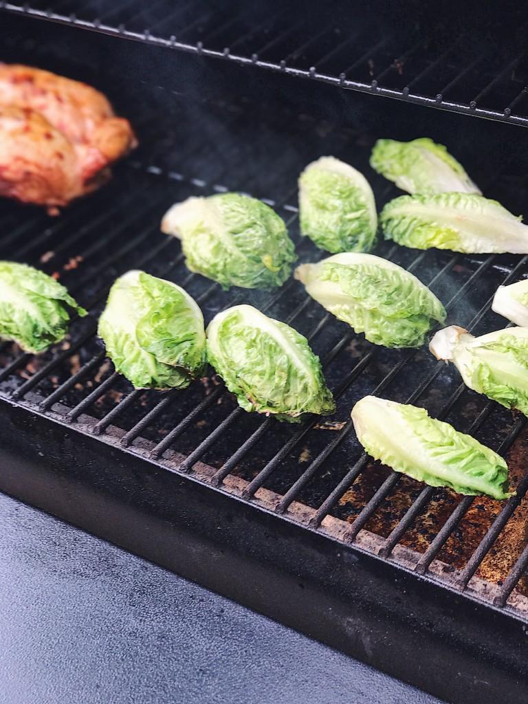 grilled baby gem