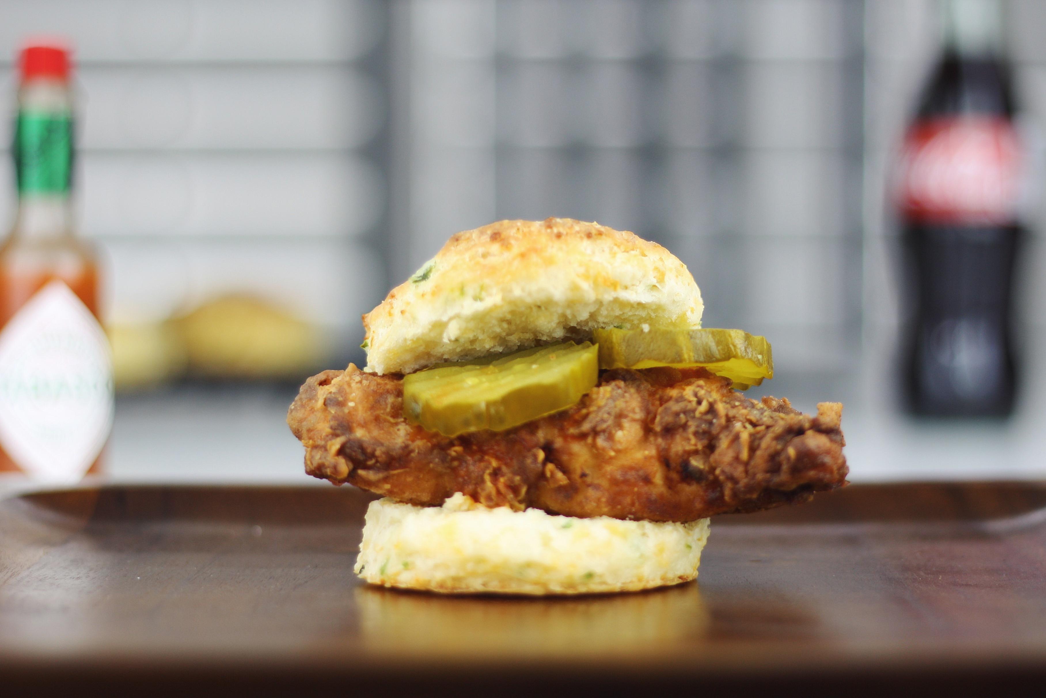 Hot chicken sandwich
